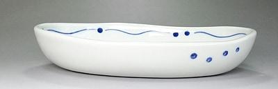 大西陶芸 ふくろうの楕円鉢