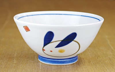 砥部焼 大西陶芸 お食い初め食器 お茶碗