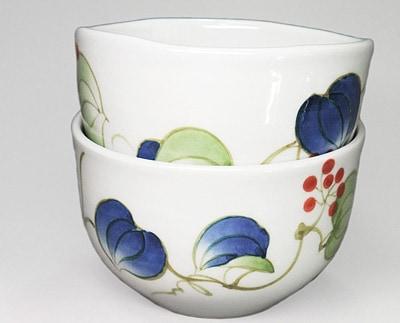 砥部焼、大西陶芸の小鉢