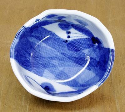 砥部焼 五松園 たたら楕円小鉢