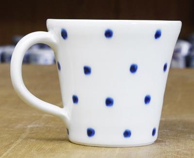 砥部焼き 五松園 マグカップ 水玉