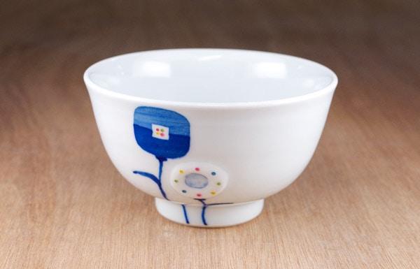 砥部焼 皐月窯 ごはん茶碗