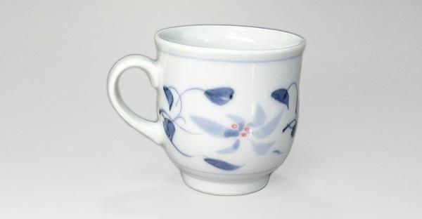 砥部焼 栖山窯 マグカップ