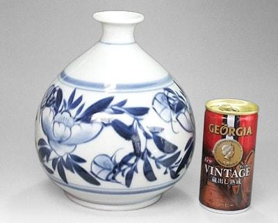 砥部焼の花瓶 大きさ比較