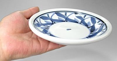 砥部焼 千山窯 5.5寸玉縁皿