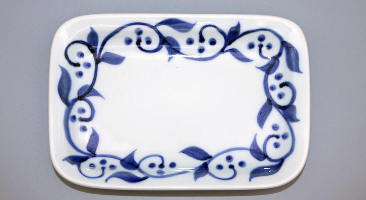 千山窯 砥部焼き 角皿