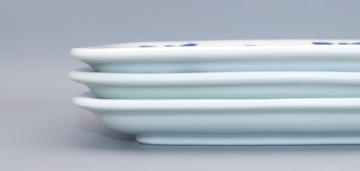 砥部焼き 和食器 角皿