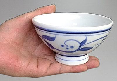 ごはん茶碗を持ったところ