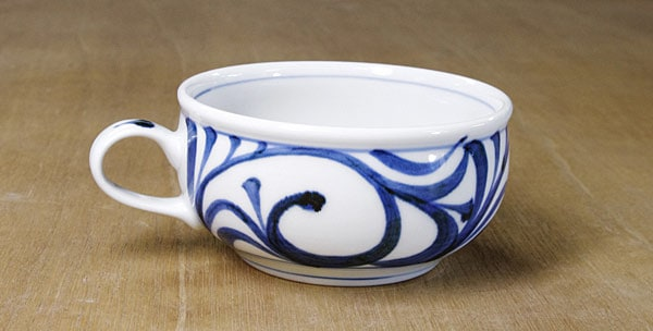 砥部焼き 梅山窯 スープカップ