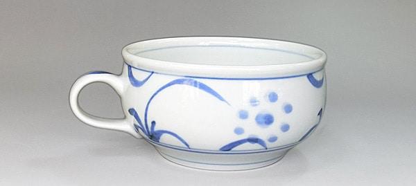 砥部焼 梅山窯 スープカップ