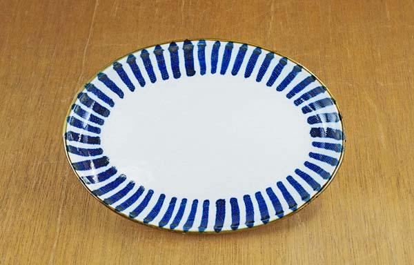 砥部焼き 東吉窯 楕円皿