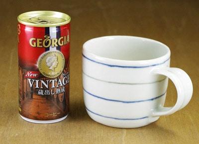 砥部焼き マグカップ 大きさ比較