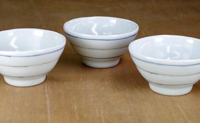 砥部焼 梅乃瀬窯 茶碗 ボーダー