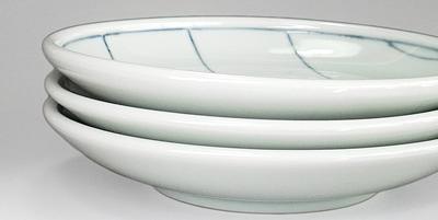 梅乃瀬窯 線文の丸皿