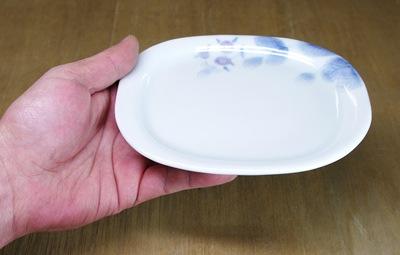 楕円皿 持ったところ