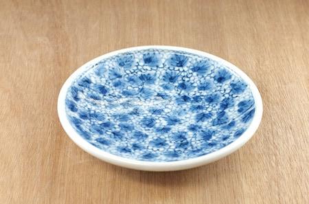 梅乃瀬 5寸丸皿 ドット