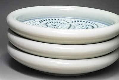 砥部焼、蛸唐草文の大鉢
