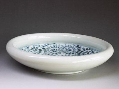 砥部焼・7寸玉縁鉢(蛸唐草)