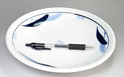 砥部焼 玉縁皿 大きさ比較