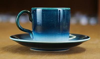 砥部焼 コーヒーカップ 切立