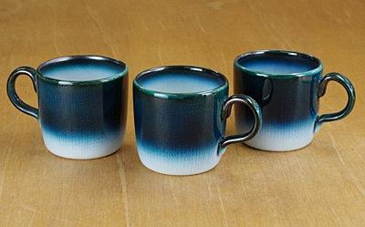 砥部焼 ヨシュア工房 コーヒーカップ ヨシュアブルー
