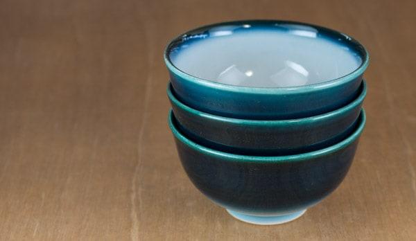 砥部焼 ヨシュアブルー 重ねたところ 小鉢 汁碗