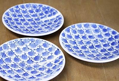 砥部焼き 陽貴窯 4寸小皿 花弁