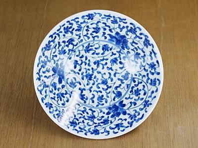 和食器 平茶碗 菊唐草