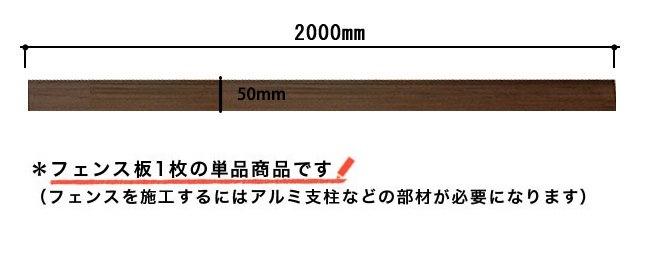 フェンス板1枚の単品商品です