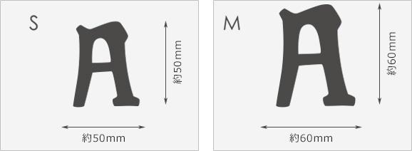 文字サイズ表