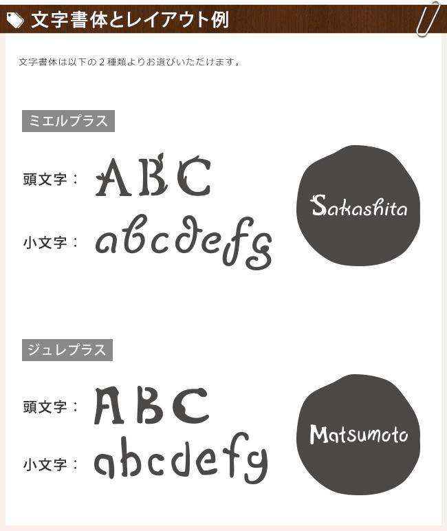 文字書体とレイアウト例