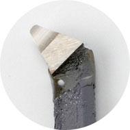 切削バイト刃先:ハイス直剣