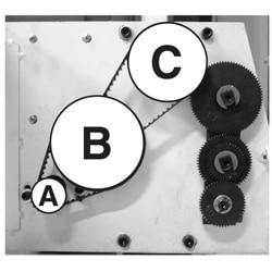 小型卓上旋盤KS-310の駆動ベルトの掛け替え