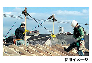 藤井電工安全帯/ツヨロン 安全屋根支柱用心棒 YM-100