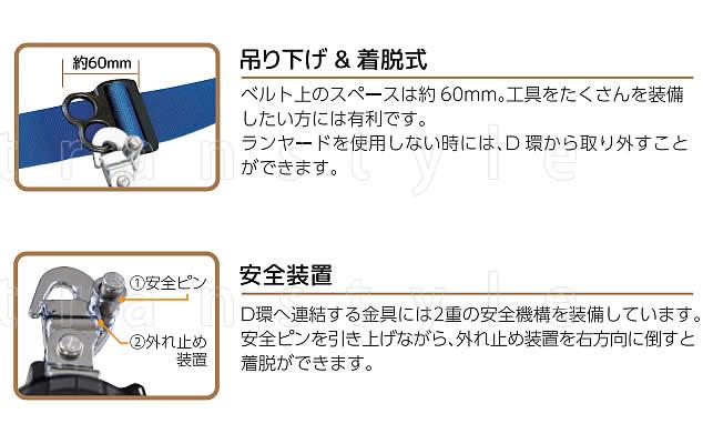 サンコー安全帯/タイタン PL-RBLN506 リブラ 【墜落制止用器具/胴ベルト型/一般高所用/Ribra】