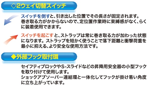 【サンコー】 リーロックS2NEO S505 【一般高所用安全帯/タイタン】
