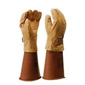 【ヨツギ】 保護革手袋(マジックテープ付) 【耐電/電気作業】