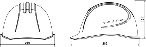 【谷沢/タニザワ】 ABS素材ヘルメット ST#01610-EZ (ライナー入) 【作業/防災/安全】