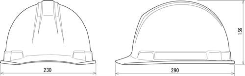 【谷沢/タニザワ】 ABS素材ヘルメット ST#0169L-FZ (ライナー入) 【作業/防災/安全】