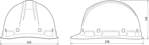 【谷沢/タニザワ】 FRP素材ヘルメット ST#159-EPZ (ライナー入) 【作業/防災/安全】
