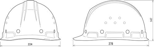 【谷沢/タニザワ】 FRP素材ヘルメット ST#1090-GPZ (ライナー入) 【作業/防災/安全】