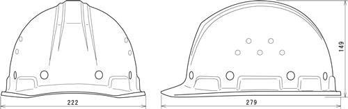 【谷沢/タニザワ】 FRP素材ヘルメット ST#1790-GPZ (ライナー入) 【作業/防災/安全】