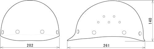【谷沢/タニザワ】 FRP素材ヘルメット ST#1360-DPZ (ライナー入) 【作業/防災/安全】