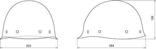 【谷沢/タニザワ】 FRP素材ヘルメット ST#118-EMZ (ライナー入) 【作業/防災/安全】