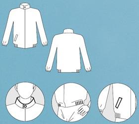 【防護服/保護服】 タイベックジャンパー 2110A 【作業服】