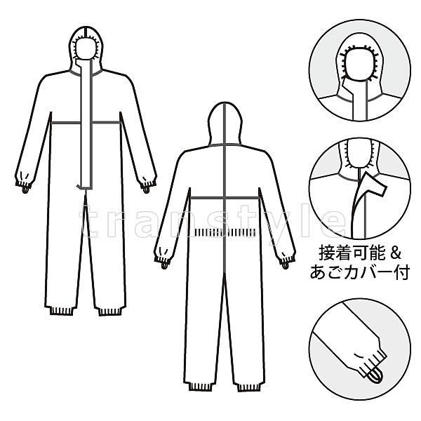 【防護服/保護服】 タイベックソフトウェア III 型 【作業服】