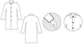 【防護服/保護服】 タイベック白衣 4250 【作業服】