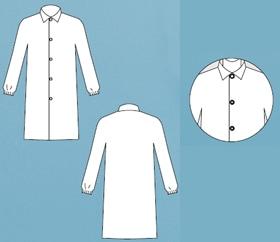 【防護服/保護服】 タイベック白衣 4251 【作業服】