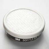 【3M/スリーエム】 有機ガス用吸収缶フィルター付 3311J-55-S1(3000用) (1個) 【ガスマスク/作業】