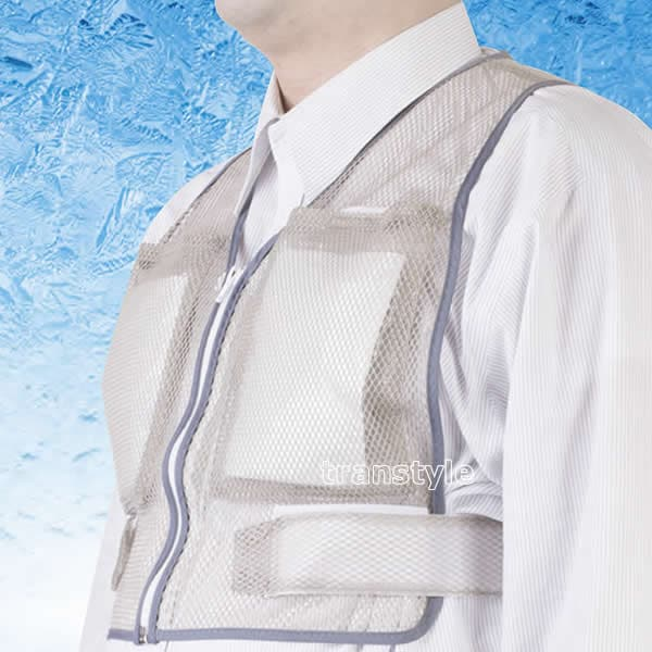 熱中症対策商品 冷却ベストクールダウン (保冷剤を凍らせて使用)